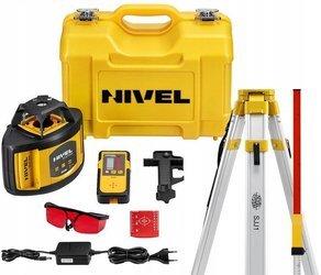 Zestaw Niwelator rotacyjny laserowy NIVEL SYSTEM NL500 Czerwony